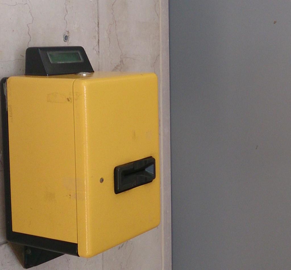 Апарат за чекиране на билети за влак - Италия